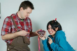 Ralph and Vanellope by Biseuse