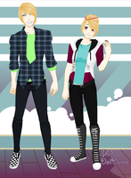 Ash-Chance Unofficial Outfits by foxyko