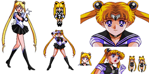 Sailor Eclipse Sprite Collection by Chibikan