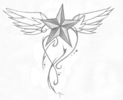 Nautical Star Tattoo Design by jkthedragon