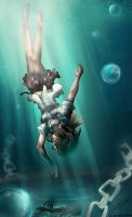 Falling.... deep into the ocean by ShiyumiChan