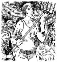 The Walking Dead: Farmer's Daughter by cluedog
