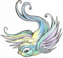 Tattooflash Swallow Angel by 2Face-Tattoo