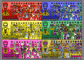 Zokuto Sentai DANGANGER with their counterparts by thunderyo