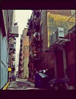 Alley, Spine of The City by GrotesqueDarling13