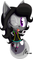 :Commission: Izzy the dark cat chibi by Mm38