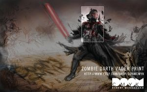Zombie Darth Vader print by DoomCMYK