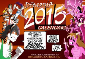 Get Your 2015 Draconia Chronicles Calendar Today! by RazorFoxDV