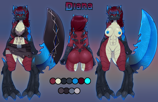 Diana Character Sheet by PasLait
