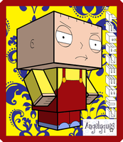 Stewie Griffin Cubeecraft by angelyques
