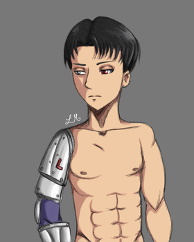 Levi Ackerman Cyborg by Lawliets-Minion