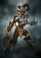 God of War III- Armored Satyr by andyparkart