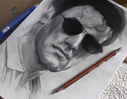 Sylvester Stallone drawing by Cleicha