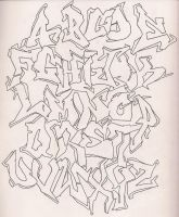 Graffiti Alphabet - Outline by DonnaSprockets