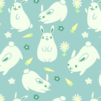 Chubby Bunny Pattern by FigBeater
