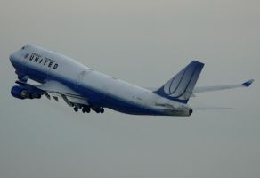 Boeing 747-400 United Airlines by shelbs2