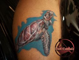 turtle tattoo by dottcrudele