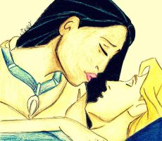 Pocahontas And John Smith. by LilNikiwi