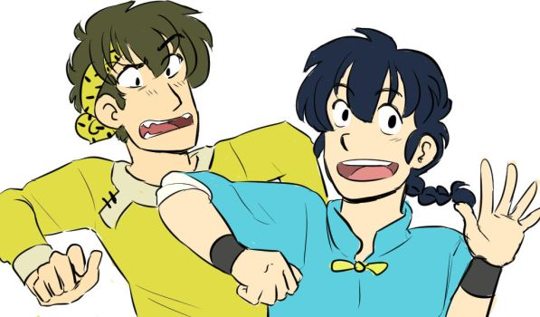 Ranma 1/2 - Ranma and Ryoga - Frenemies by Ranryo82