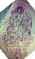 angel half-sleeve by michaelbrito