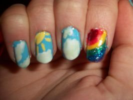 Sunny Day aka Rainbow Nails by QueenAliceOfAwesome