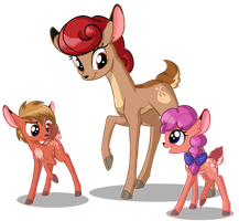Fawns by Sirzi