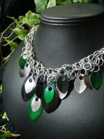 Shaggy Scale Necklace by BacktoEarthCreations