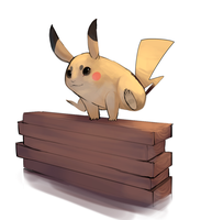 Exercising pikachu by umbbe