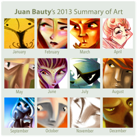 2013 Summary Of Art by juanbauty
