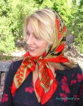 Traditional Tie - Autumn Woods by knottysilkscarf