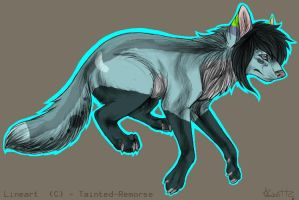 Laifeah - Wolf Form by Twisting-Dreams