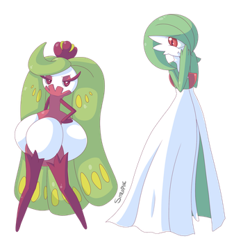 Gardevoir and Tsareena by Sitrophe