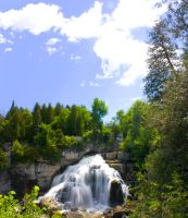 Inglis Falls from above 070110 by GreyVolk