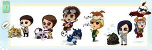 Digimon 02 chibis by 1amm1