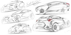 Peugeot HR-2 Sketches by dyrborgdesign