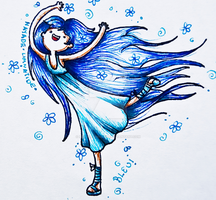 .:Blue-Adventure Time Style:. by NayadeLimnatide