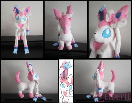 Sylveon Plushie by Miss-Zeldette