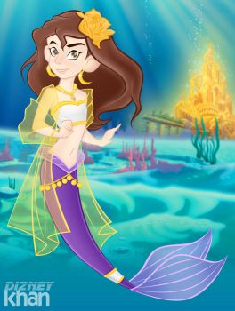 Salma as Mermaid by ArsalanKhanArtist