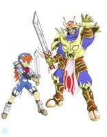 Grandia - Justin and Gadwin by JP-V