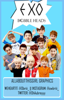 EXO Bobble Heads Png Pack by AATG