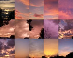 Sunset Sky Collage by EuchredEuthanasia