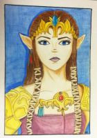 Princess Zelda. by falangell