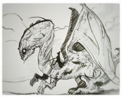 Dragon sketch-2 by fifoux