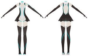 Racing Miku 2011 outfit finished by MMD-MCL