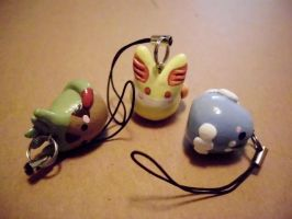 Poke-Peeps Cellphone Charm - X and Y Starter Set 2 by UniqueTreats