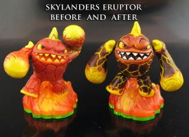 Skylanders Eruptor Before and After by Jin-Saotome