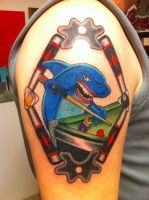 Pool Shark Tattoo by patheticpeacepirate