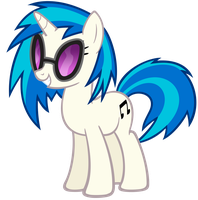 Vinyl Scratch/DJ PON-3 vector by OfPut