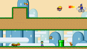 Mario World PSP Wallpaper by GoldenfrankO