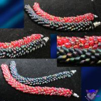 Dragon Tail Bracelets by NightWolfRose